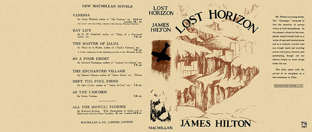 Full dustjacket Lost Horizon 1933