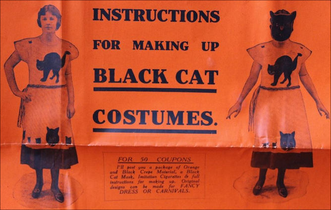 Instructions for making up Black Cat Costumes