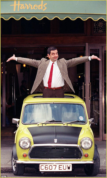Mr Bean and Mini at Harrods