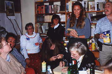 Marysia with the group fans 2000