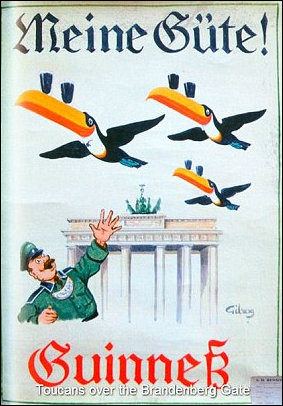Toucans over the Brandenburg Gate