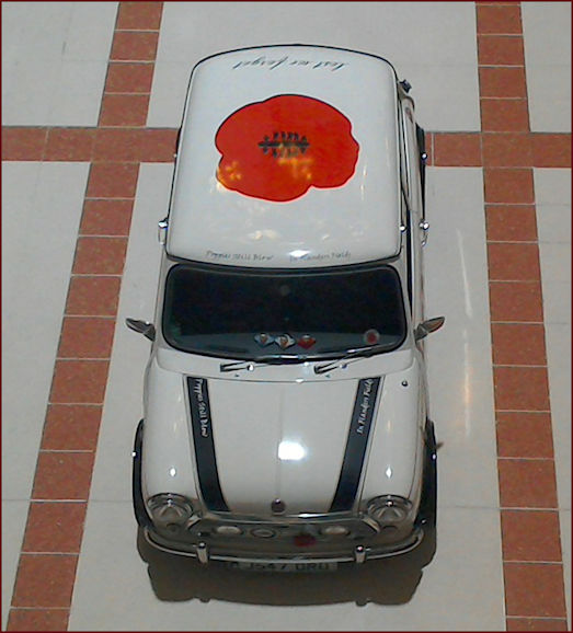 Mini with Poppy livery fund raising