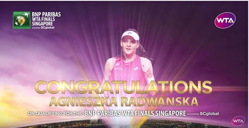 Aga Radwanska reaches Singapore Finals 2015