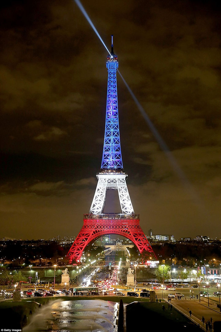 Eiffel Tower in tricolour