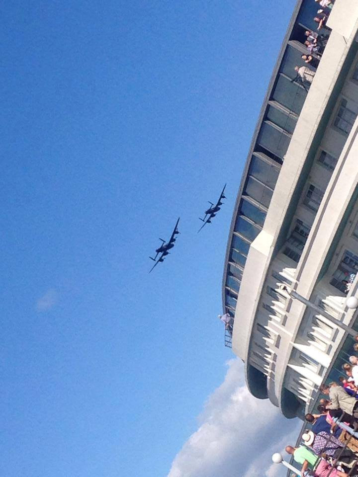 Flypast over the Midland Hotel