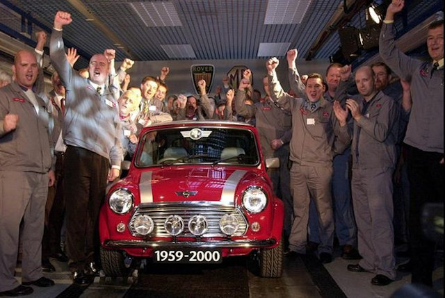 Completion of last evber Mini at Rover