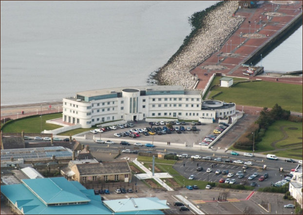 Aeriel view of the Midland Hotel on completion