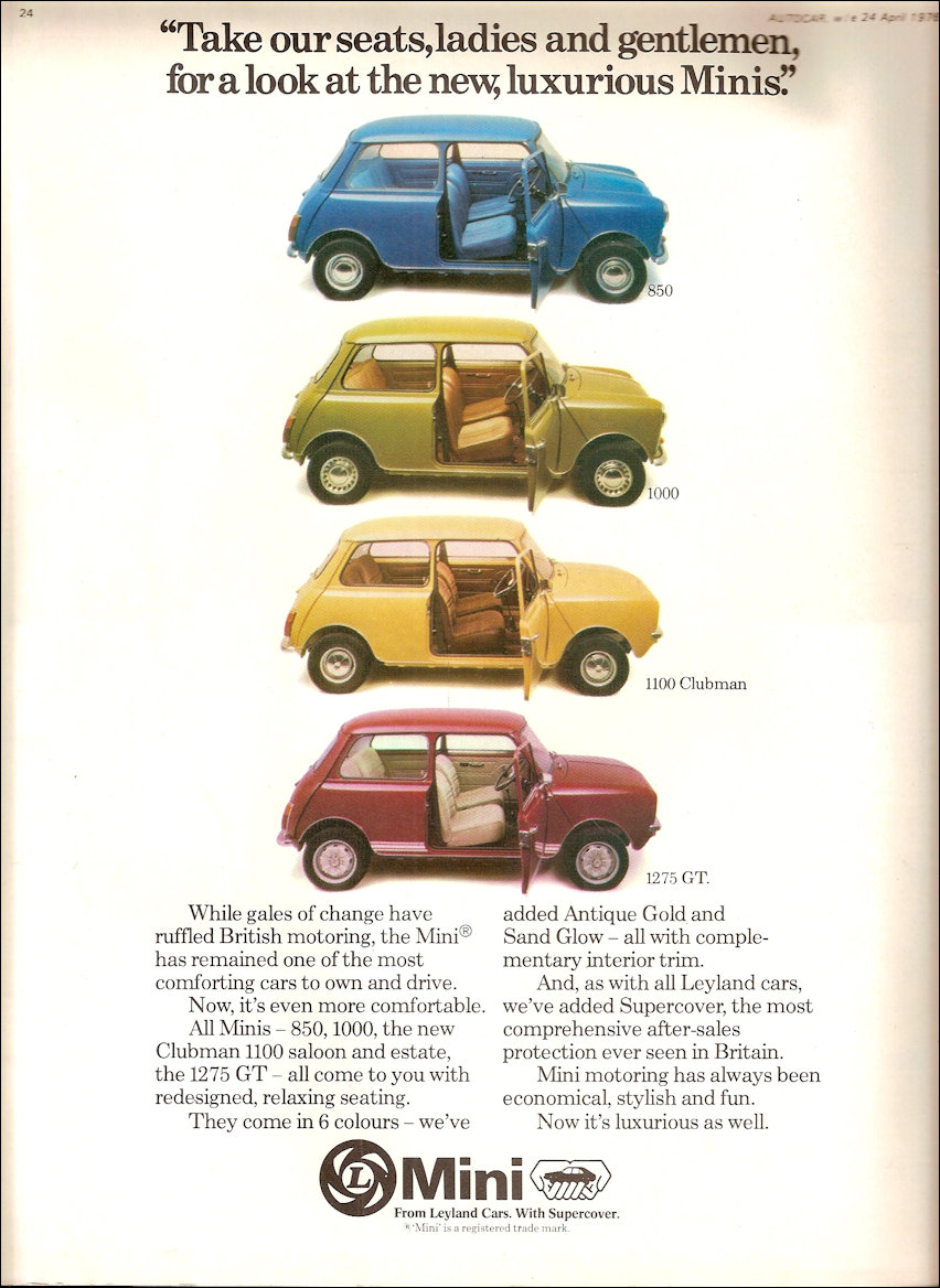 Mini Advertising 1976