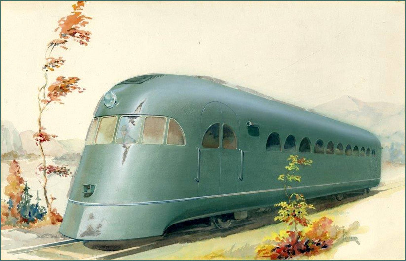 The Pullman Railplane painted 1933