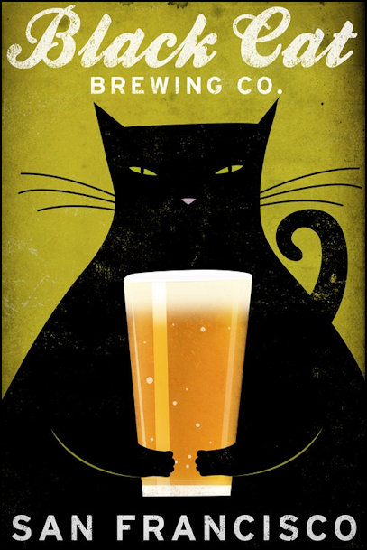 Cats advertising beer in San Francisco