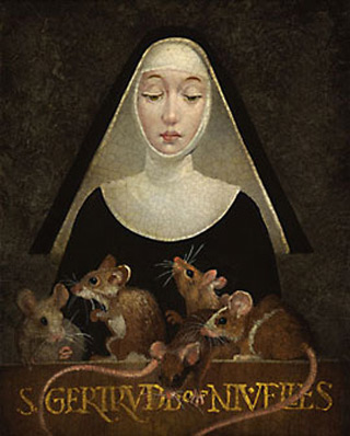 St Gertrude with Mice