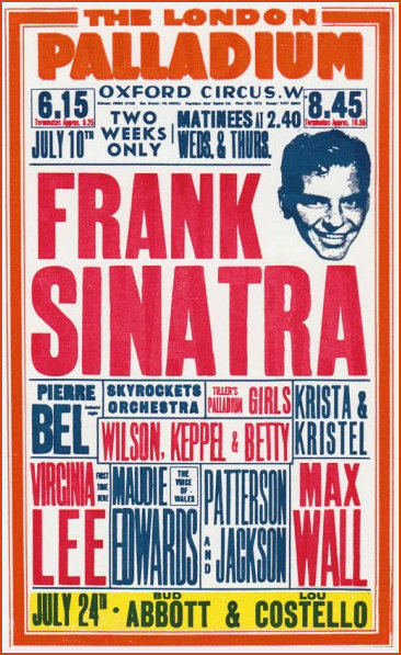 WKB share Palladium billing with Sinatra 1950