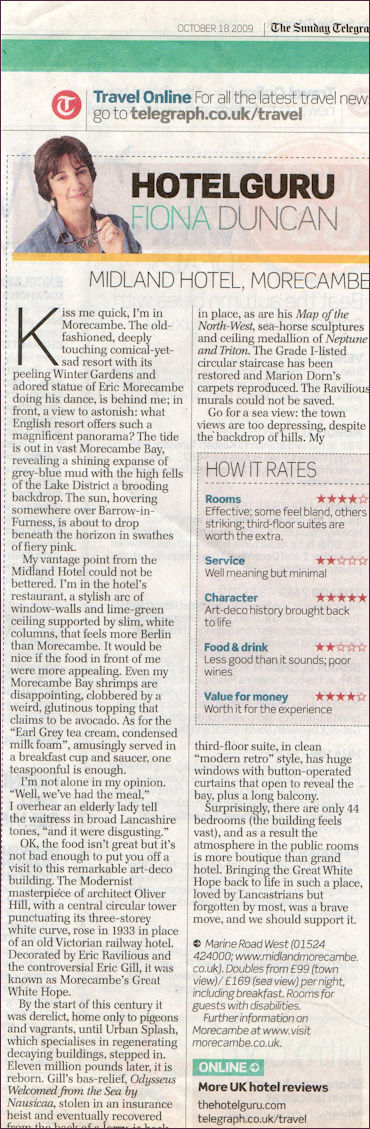 Telegraph review 2009
