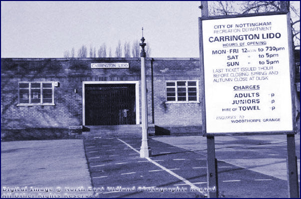 Carrington Lido Main Entrance and Price List