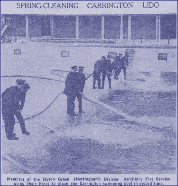 Fire Brigade cleaning the Lido