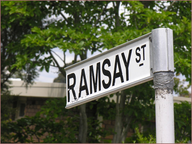 Neighbours Ramsay Street Sign