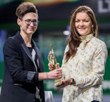 Aga receiving award