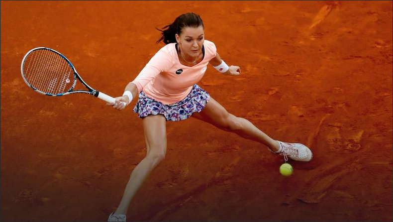 Aga on a clay court