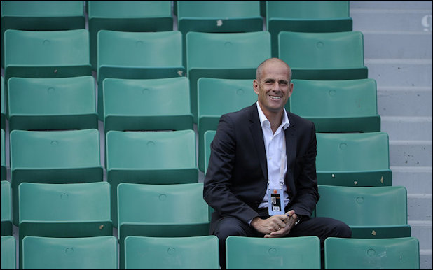Guy Forget at Roland Garros