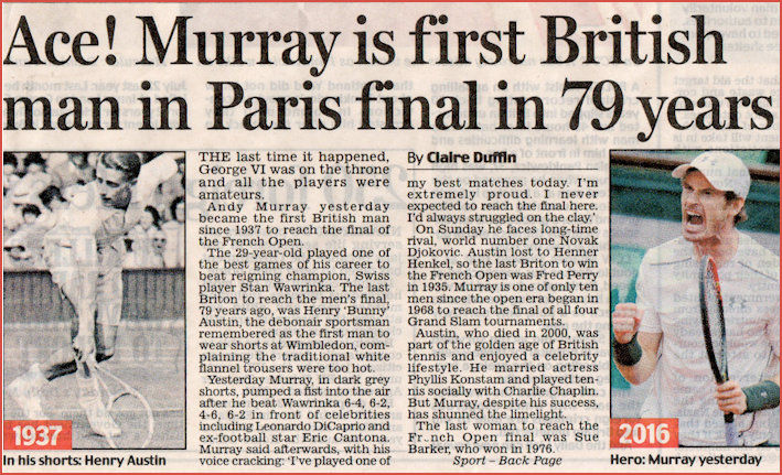 History making at the French Open 2016