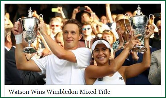 Heather Watson - Mixed Doubles Champion