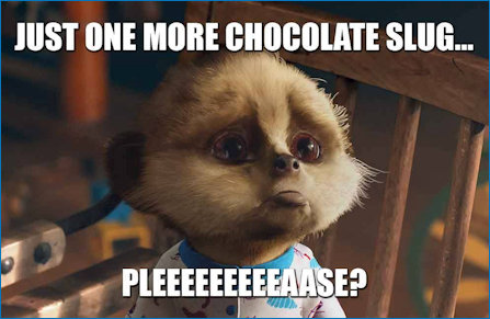 Oleg wants a chocolate slug