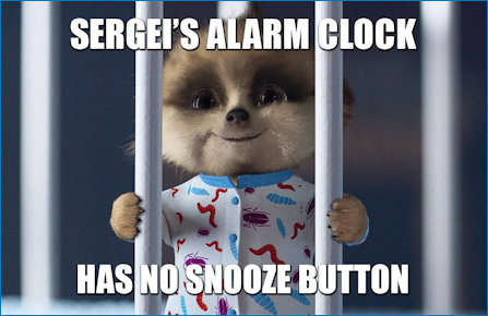 Baby Oleg wide awake