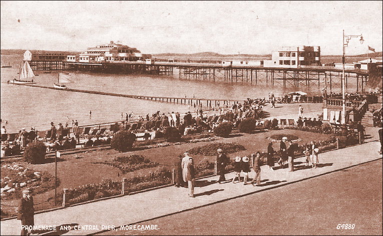 Don Cafe on Central Pier Morecambe panoramic view