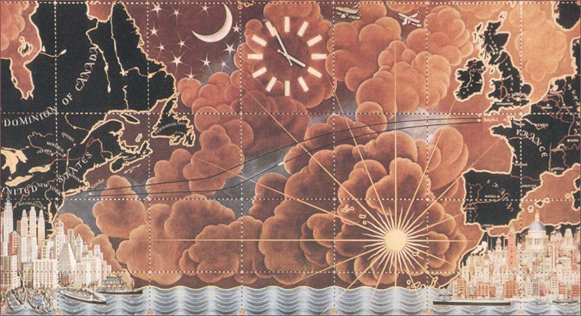 Design project for the Celestial Map by MacDonald Gill
