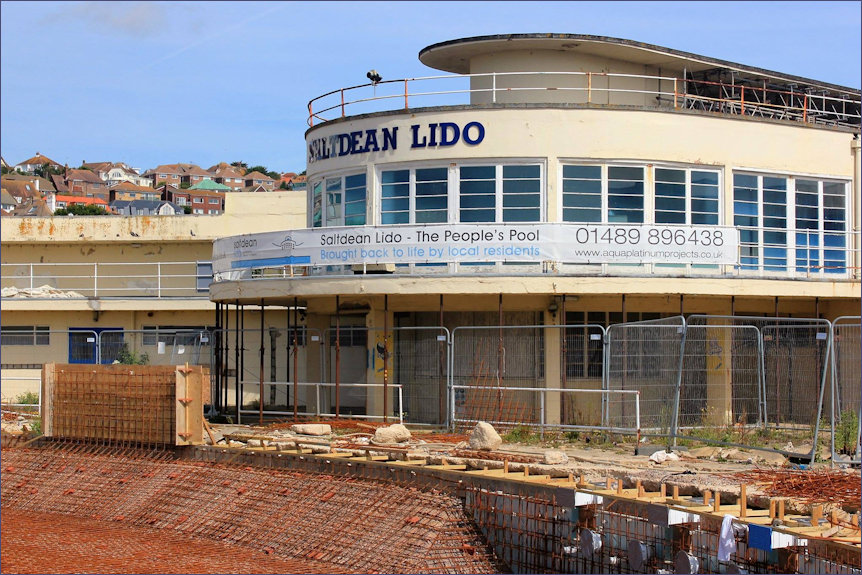 Sote construction at the Saltdean Lido