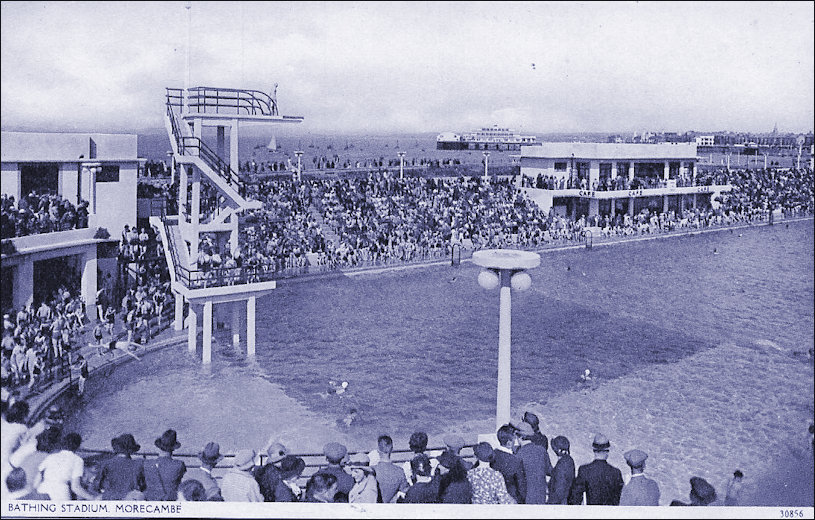 Bathers and Spectators at the Swimming Stadium in Morecambe
