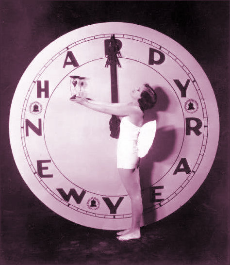 New Year Clock Art Deco Style