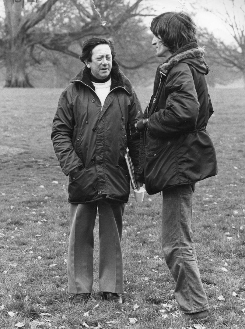 Louis Marks and Andrew Birkin on location