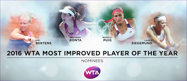 Konta nominated for most improved player