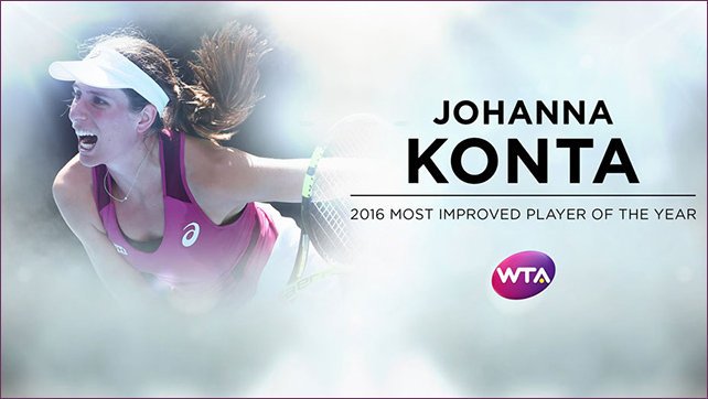 WTA Winner Most improved 2016