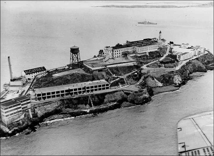 Alcatraz from the air