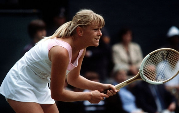 Sue Barker in action