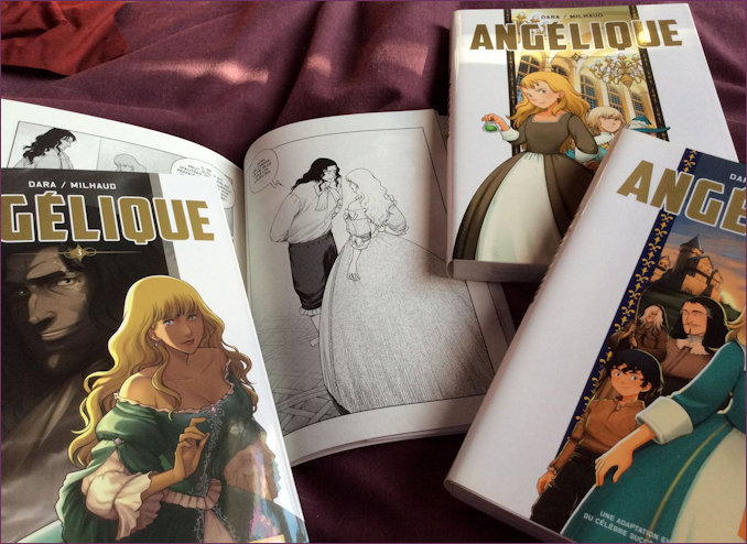 Three volumes of Angelique Manga together