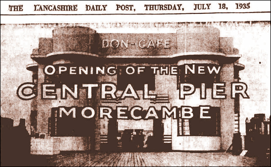 Opening of Don Cafe and Central Pier 1935