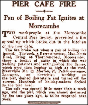 Pier Cafe Fire report 1935