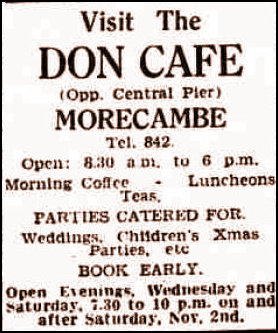 Don Cafe ad in 1946