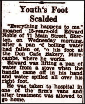 Report of a scalded foot in 1952