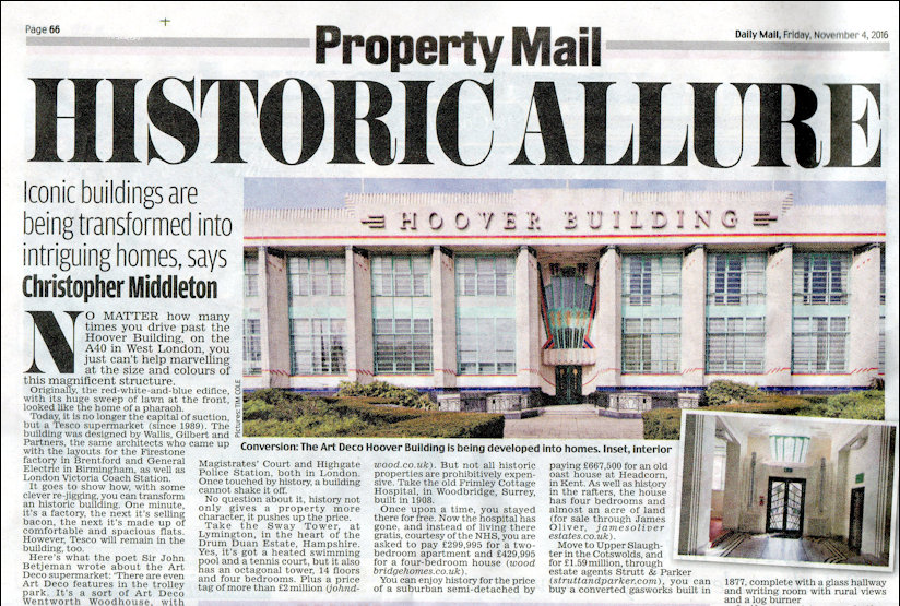 Hoover Building newspaper article