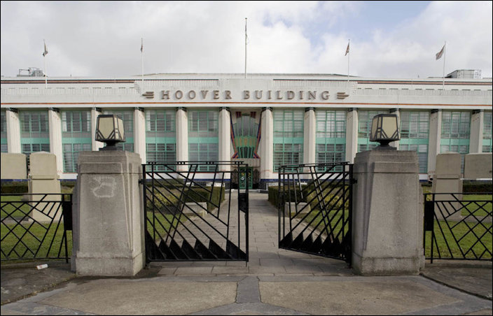 Main facade and entrance of the Hoover Building