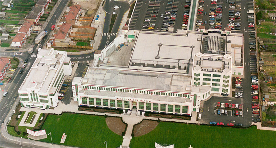 Aerial  view of the Hoover Building