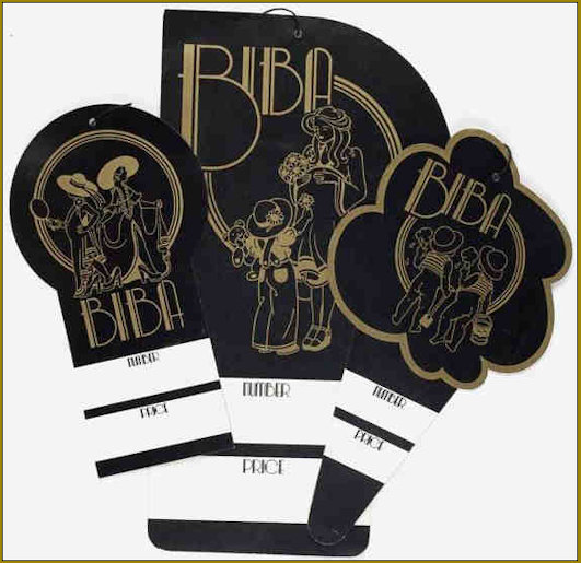 Biba Shop Labels Mother and Child department