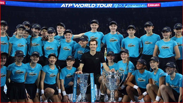 Murray and Ball Kids at ATP Finals 2016