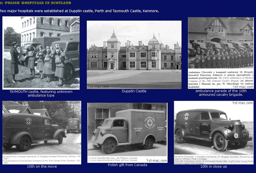 Compilation image of Polish Military hospitals in scotland