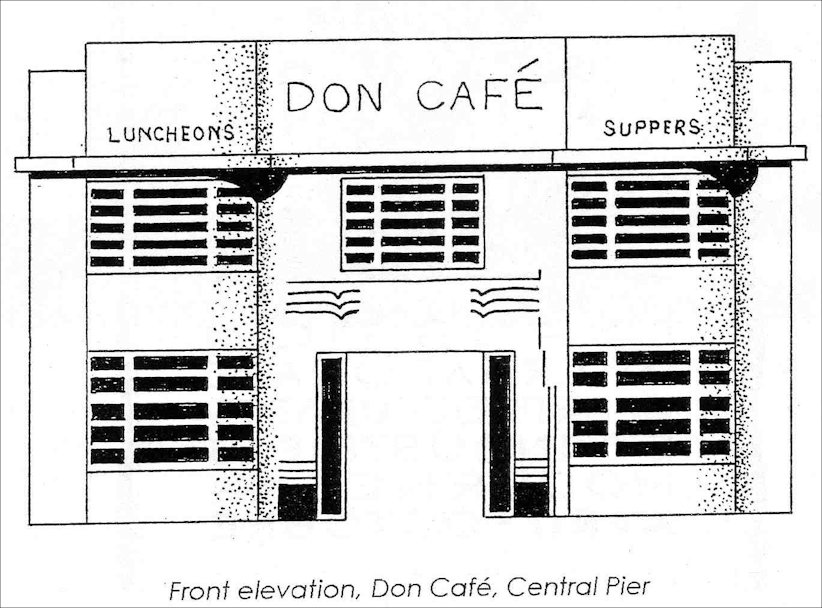 Elevation of the Don Cafe