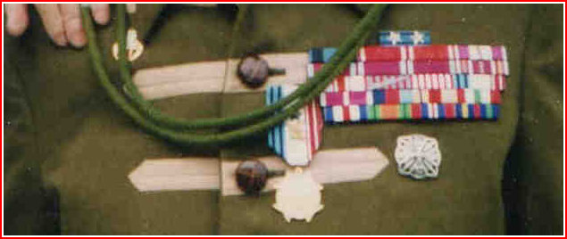 My father's Medal ribbons